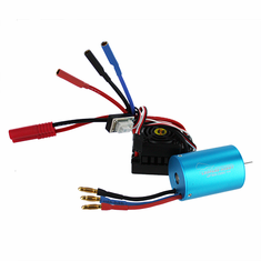 3300kv 540 Brushless Motor with Splashproof, Programmable ESC