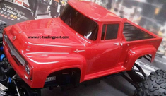 56 Ford F-100 Custom Painted 1/8 RC Monster Truck Body For T/E-maxx,Revo,MGT