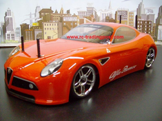 Alfa Romeo 8C Competizione Custom Painted RC Touring Car / RC Drift Car Body 200mm (Painted Body Only)