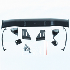 All parstic parts(Wing (w/wing mount), Mirrors w/chrome stickers (2), wipers (2), mounting hardware