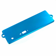 Aluminum Battery Box Cover, Blue