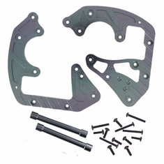 Aluminum Front or Rear Gear Box Mount Plate and Gear Box Posts ~