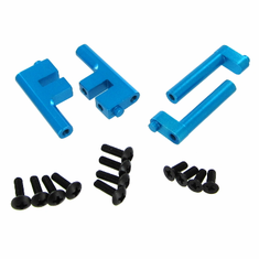 Aluminum Radio Tray Posts, Blue (4pcs)
