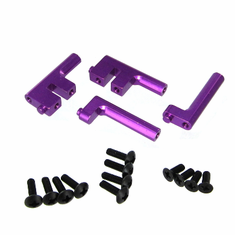 Aluminum Radio Tray Posts, Purple (4pcs)