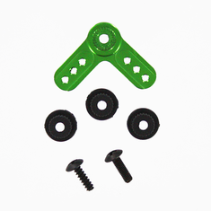 Aluminum servo arm L-shape green ~