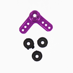 Aluminum servo arm L-shape purple ~