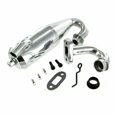 Aluminum Tuned Exhaust Pipe