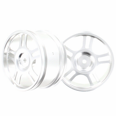 Aluminum Wheels, Silver (2pcs)
