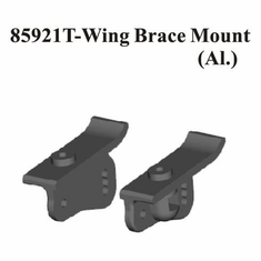 Aluminum Wing Brace Mount, Color: Hard Anodized ~
