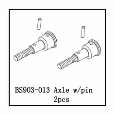 Axle w/Pin (2ea) CLICK ON PICTURE TO ENSURE YOU ARE ORDERING THE RIGHT PART!!! ~