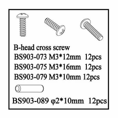 B-Head Cross Screws (3*10mm)   12pcs ~