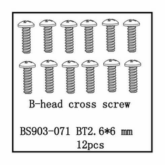 B-Head Cross Screw(BT2.6*6)   12 PCS ~
