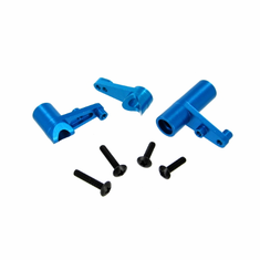 Aluminum Servo Saver and Bell Crank Set, Blue ~