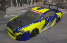 Blue Carbon Redcat Racing Gas RTR Nitro RC Drift Cars Now With 2.4 GHZ Radio System!!!