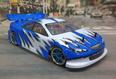 Blue Streak Redcat Racing EP Brushless RTR Electric RC Street Cars Now With 2.4 GHZ Radio AND 2S Lipo Battery!!!