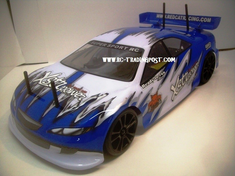 Blue Streak Redcat Racing Gas RTR Nitro RC Drift Cars Now With 2.4 GHZ Radio System!!!
