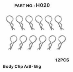 Body Clips, Large (12pcs) ~