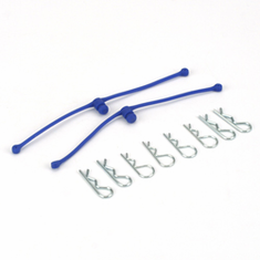 Body Klip Retainers, Blue (2) by Dubro Products