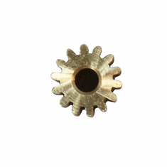 Brass Pinion Gear, 3.2mm Shaft (14T, .6 module) ~