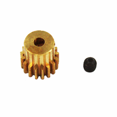 Brass Pinion Gear (17T, .6 module) ~