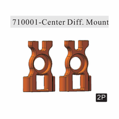 Center differential Mount, Aluminum (2pcs) ~