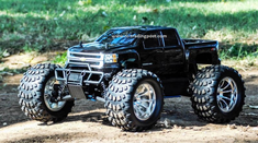 Chevy Silverado 2500 HD Redcat Volcano S30 4X4 1/10th 40+MPH Nitro RC Monster Truck Ready To Run Custom Painted With 2.4Ghz Radio System