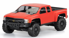 Chevy Silverado Custom Painted 1/10 RC Short Course Truck Body For Traxxas Slash