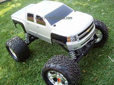 Chevy Silverado 2500 HD Custom Painted RC Monster Truck Body 1/10th (Stampede) (Painted Body Only)