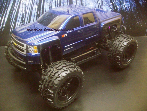 Chevy Silverado 2500 HD Redcat Volcano EPX PRO Brushless 4X4 1/10th 40+MPH Electric RC Monster Truck Ready To Run Custom Painted With 2.4Ghz Radio, Waterproof Electronics, And 2S Lipo Battery!!!