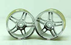 Chrome 5 Spoke Split spoke wheels 2pcs