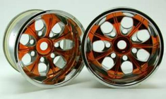Chrome 7 Spoke, Yellow Anodized (2pcs) ~