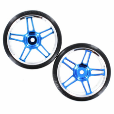 Anodized Blue Drift Wheels and Tires