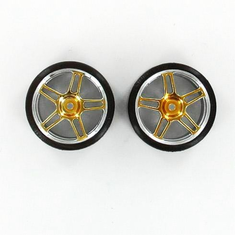 Anodized Yellow Drift Wheels and Tires