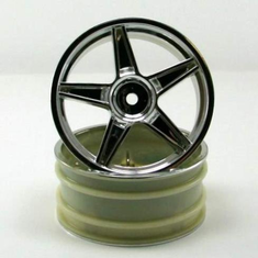 Chrome front 5 spoke wheels 2pcs