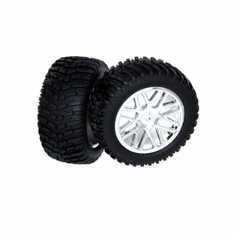 Chrome Plated Wheels and Tires (2pcs)