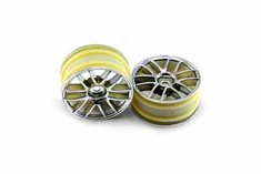 Chrome Spoke Wheels, 2pcs