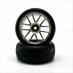 Chrome Road Wheels, 2pcs