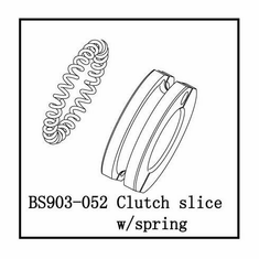 Clutch Shoes with Spring, Aluminum