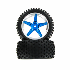 Complete Rear Wheels, Blue (2pcs)