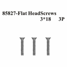 Countersunk Hex Screws 3*18 3Pcs ~
