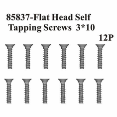 Countersunk Hex Self Tapping Screws 3*10 12Pcs ~