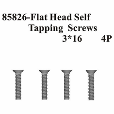 Countersunk Hex Self Tapping Screws 3*16 4Pcs ~