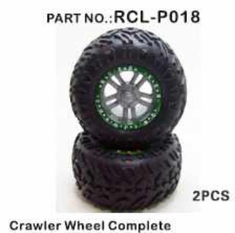 Super Crawler Wheels, Complete (Gun Metal)