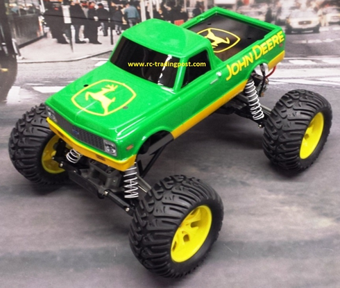 Custom John Deere 72 Chevy RC Monster Truck Body 1/10th (Stampede) (Painted Body Only)
