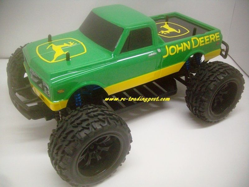 Custom John Deere 72 Chevy Redcat Volcano EPX PRO Brushless 4X4 1/10th 40+MPH Electric RC Monster Truck Ready To Run Custom Painted With 2.4Ghz Radio, Waterproof Electronics, And 2S Lipo Battery!!!