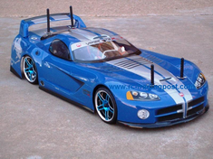 Dodge VIper GTS-R Redcat Racing EP Brushless RTR Custom Painted Electric RC Street Cars Now With 2.4 GHZ Radio AND 2S Lipo Battery!!!
