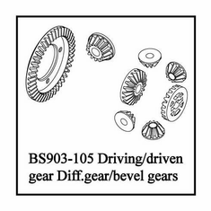 Driving/Driven Gear, Diff.Gear/Bevel Gears ~