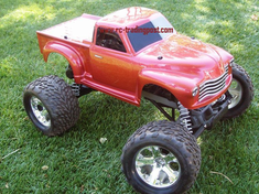 Early '50s Chevy Pickup Custom Painted RC Monster Truck Body 1/10th (Stampede) (Painted Body Only)
