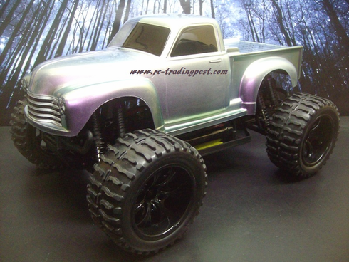 Early '50s Chevy Pickup Redcat Volcano EPX PRO Brushless 4X4 1/10th 40+MPH Electric RC Monster Truck Ready To Run Custom Painted With 2.4Ghz Radio, Waterproof Electronics, And 2S Lipo Battery!!!