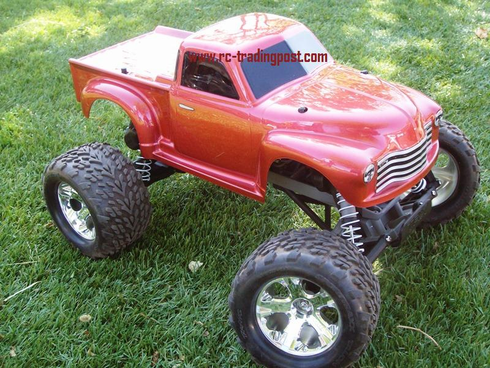 Early '50s Chevy Pickup Traxxas Stampede XL-5 1/10th 30+MPH Electric RC Monster Truck Ready To Run Custom Painted With 2.4Ghz Radio And Waterproof Electronics
